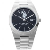 US Polo Association Herrklocka Silver USP5318BK