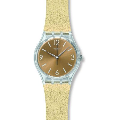 Swatch Original Gent Sunblush Unisexuhr in Gold GE242C