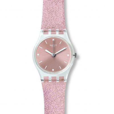 Ladies Swatch Pinkindescent Watch LK354C