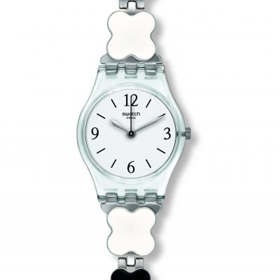 Swatch Originals Lady Clovercheck Damenuhr in Weiß LK367G