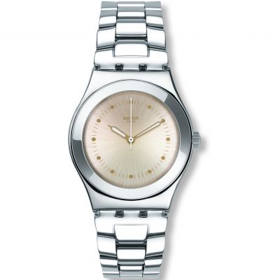 Swatch Irony Medium Puntagialla Damenuhr in Silber YLS197G