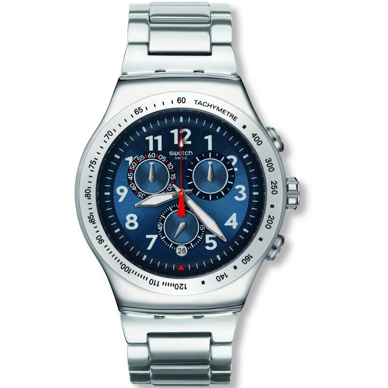 Mens Swatch Blue Maximus Chronograph Watch