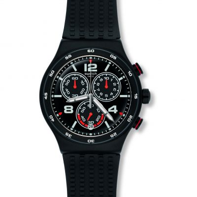 Swatch Irony Chrono Destination Shanghai Herrenchronograph in Schwarz YVB404