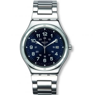 Swatch Irony Big Classic Blue Boat Herrenuhr in Silber YWS420G