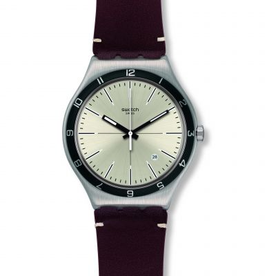 Swatch Irony Big Classic Four Stitches Herrenuhr in Braun YWS423