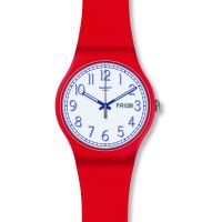 Unisex Swatch Red Me Up Watch SUOR707