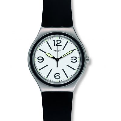 Swatch Irony Big Classic Noir Du Soir Herrenuhr in Schwarz YWS424