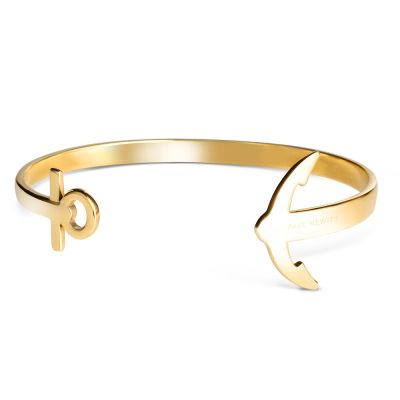 Paul Hewitt PVD Gold plated Ancuff Bracelet PH-CU-G-M