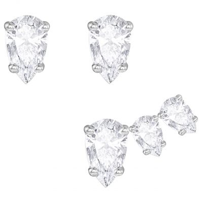 Ladies Swarovski Rhodium Plated Attract Earrings 5274076