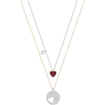 Ladies Swarovski Rhodium Plated Necklace 5255351