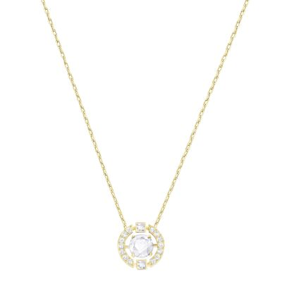 Ladies Swarovski Gold Plated Sparkling Necklace 5284186