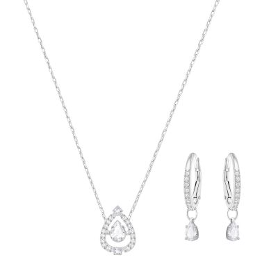 Bijoux Femme Swarovski Sparkling Dance Collier and Boucle d'oreille Set 5272368