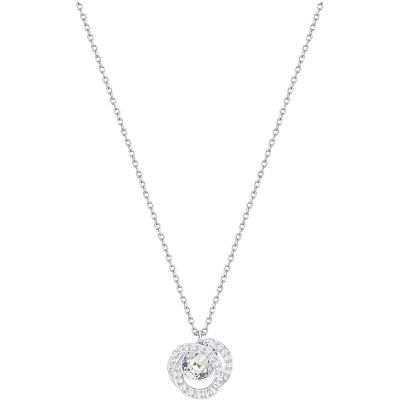 Ladies Swarovski Rhodium Plated Generation Necklace 5289028