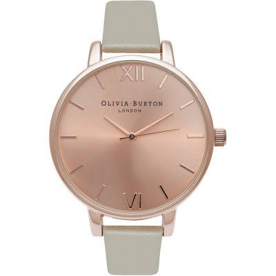 Sunray Rose Gold & Grey Watch