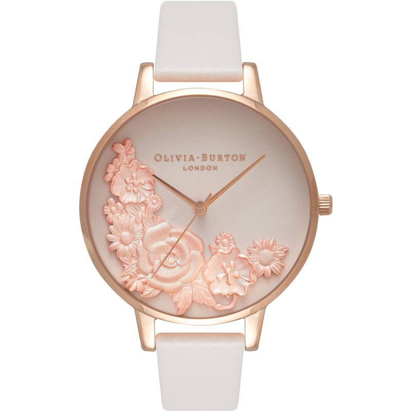 Ladies Olivia Burton 3D Bouquet Flower Show Watch OB16FS85