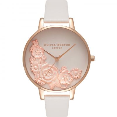 Olivia Burton Begin To Blush Begin To Blush Rose Gold & Blush Damenuhr in Grauweiß OB16FS85