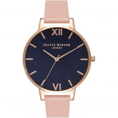 Olivia Burton Navy Dial Navy Dial Rose Gold & Dusty Pink Damenuhr in Pink OB16BD96