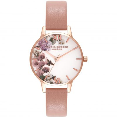 Enchanted Garden Rose Gold & Dusty Pink Watch