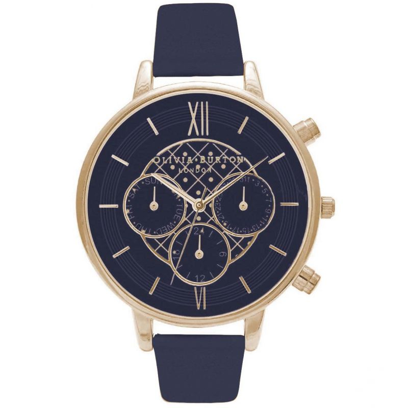 Chrono Detail Navy & Gold Watch