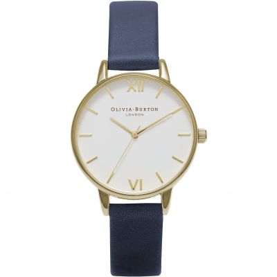 White Dial Gold  & Navy Watch