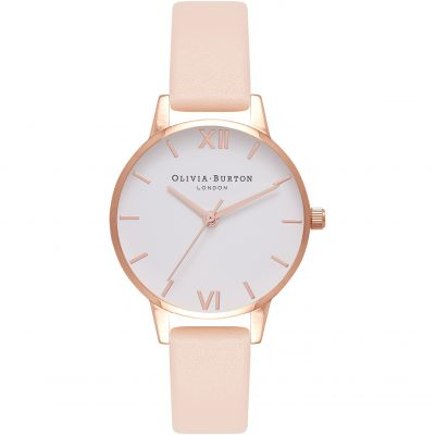 White Dial Midi Dial Gold & Nude Peach Watch