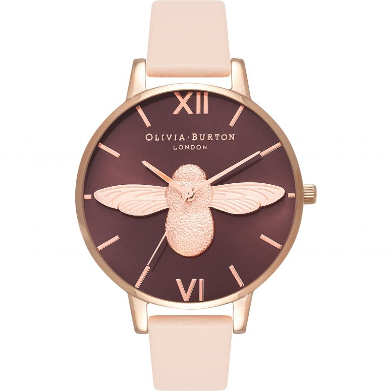 3D Bee Rose Gold & Nude Peach Watch