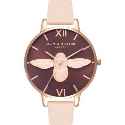 Olivia Burton Animal Motif 3D Bee Big Dial Damklocka Rosa OB16AM99