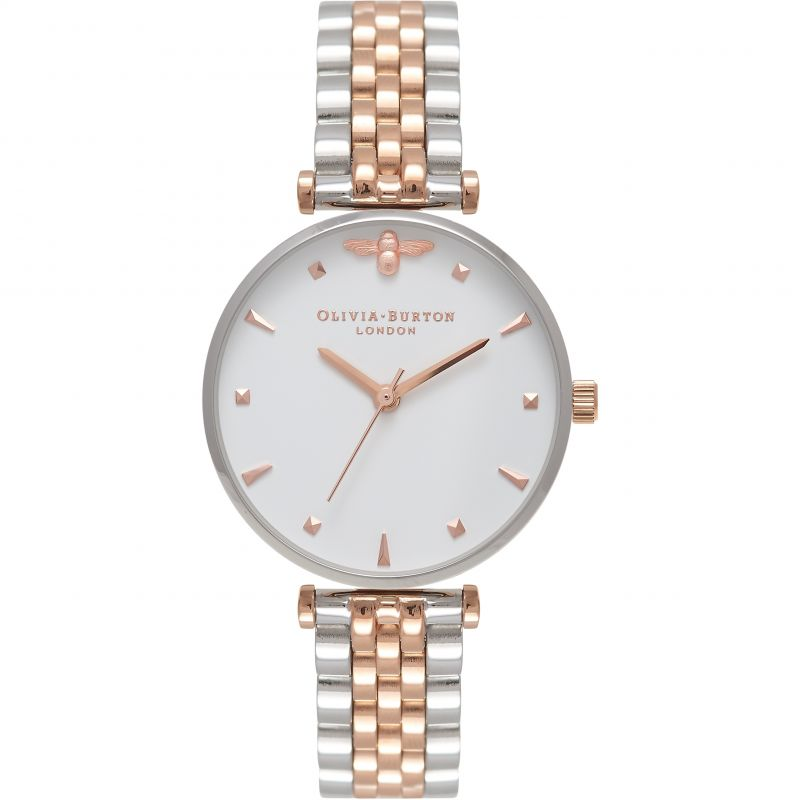 Queen Bee Silver & Rose Gold Bracelet Watch