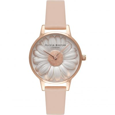 3D Daisy Rose Gold & Nude Peach Watch