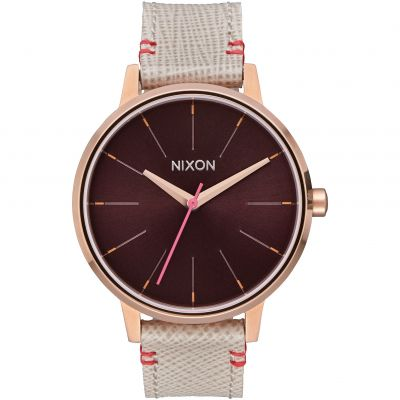 Nixon The Kensington Leather Dameshorloge Creme A108-1890