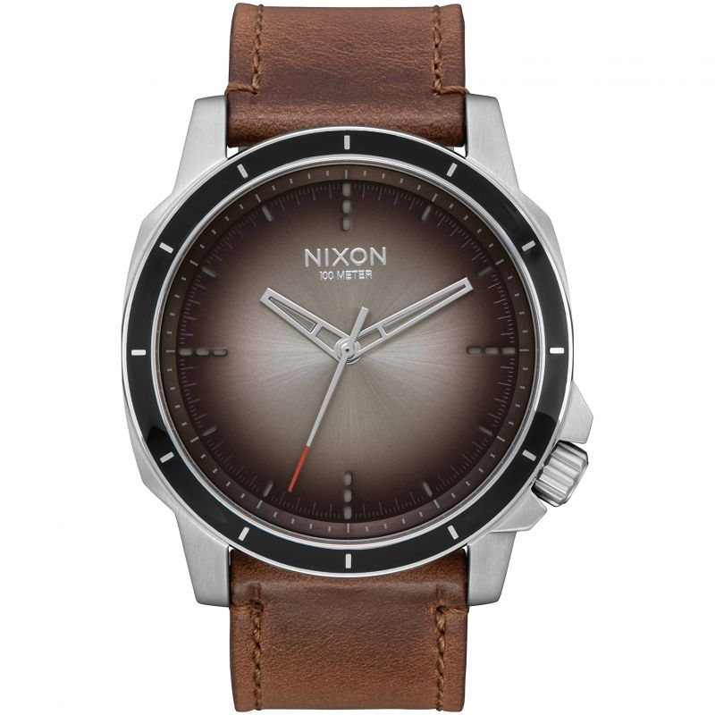 Mens Nixon The Ranger Ops Leather Watch