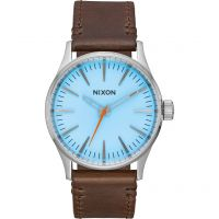 Mens Nixon The Sentry 38 Leather Watch A377-2547