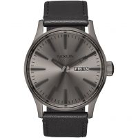Mens Nixon The Sentry Leather Watch A105-1531