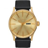 Mens Nixon The Sentry Leather Watch A105-510