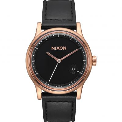 Nixon The Station Leather Herrklocka Svart A1161-1098