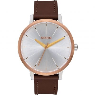 Nixon The Kensington Leather Damklocka Brun A108-2632