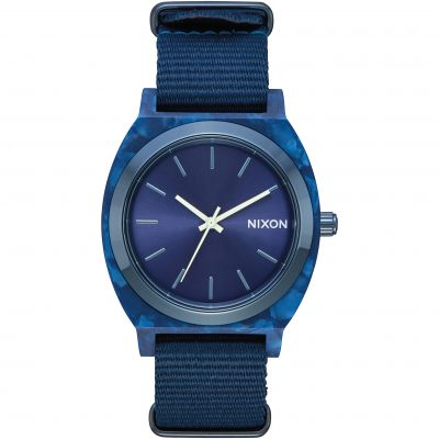 Nixon The Time Teller Acetate Unisexuhr in Blau A327-2490