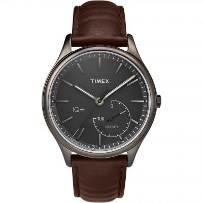 Timex IQ+ IQ+ Move Activity Tracker Bluetooth Hybrid Smartwatch Herrenuhr in Braun TW2P94800