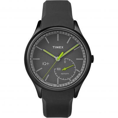 Timex IQ+ IQ+ Move Activity Tracker Bluetooth Hybrid Smartwatch Herrenuhr in Schwarz TW2P95100