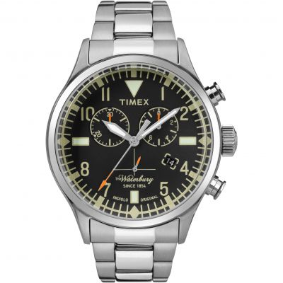 Timex The Waterbury Herrenchronograph in Silber TW2R24900