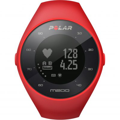 Polar M200 Bluetooth GPS Activity Tracker Heart Rate Monitor Unisexkronograf Röd 90061217