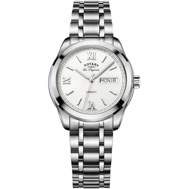 Mens Rotary Swiss Made Legacy Day Date Watch