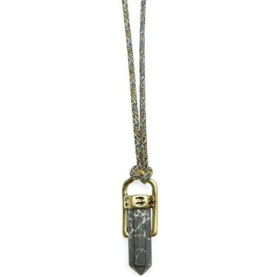 Mens Icon Brand Two-tone steel/gold plate Kashkar Necklace LE1166-N-GRY
