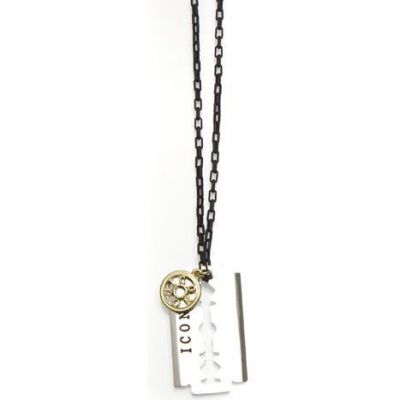 Icon Brand Dames Riley Necklace Tweetonig/ verguld goud P1175-N-MUL