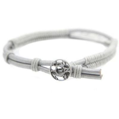 Icon Brand Heren Tag Line Bracelet Basismetaal LE1177-BR-GRY