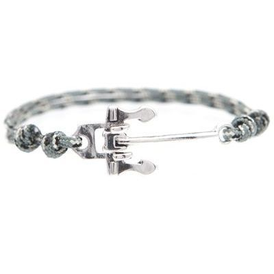 Mens Icon Brand Silver Plated Alton Bracelet LE1173-BR-GRY