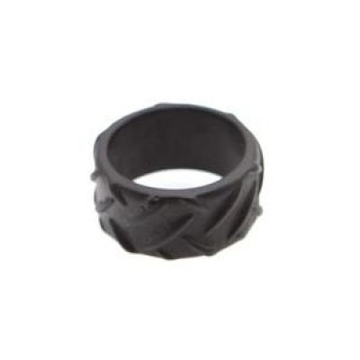 Mens Icon Brand Base metal Grip Step Ring Size Large P1188-R-BLK-LGE