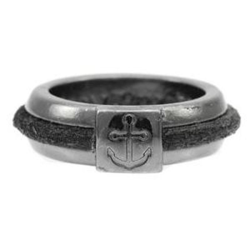 Mens Icon Brand Gunmetal PVD Hinds Ring Size Medium P1170-R-GUN-MED