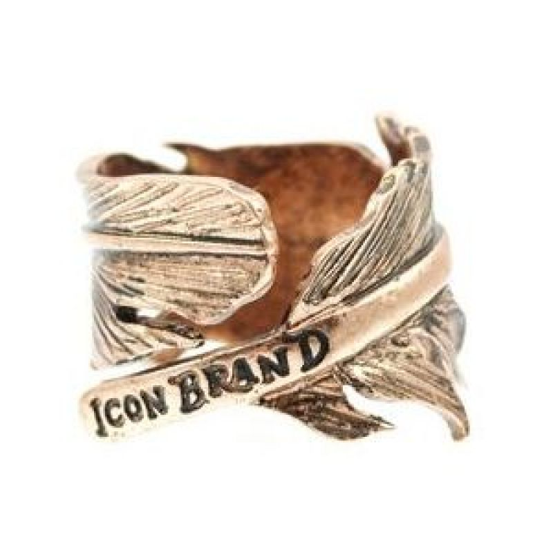 Mens Icon Brand Gold Plated Momento Ring Size Large P192-R-COP-LGE
