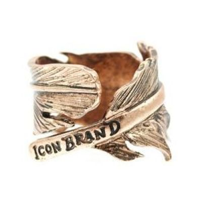 Mens Icon Brand Gold Plated Momento Ring Size Medium P192-R-COP-MED